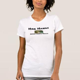 Caminhada Havaí: Praia verde da areia de Papakolea T-shirts