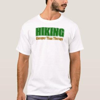 Caminhada mais barata do que a terapia camiseta