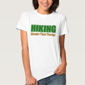 Caminhada mais barata do que a terapia camisetas