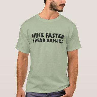 Caminhada mais rapidamente camiseta