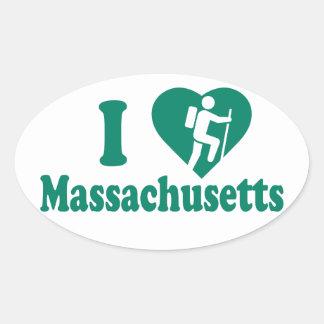 Caminhada Massachusetts Adesivo Oval
