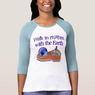 caminhada na camisa das mulheres do ritmo t-shirt