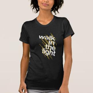 Caminhada na luz camiseta