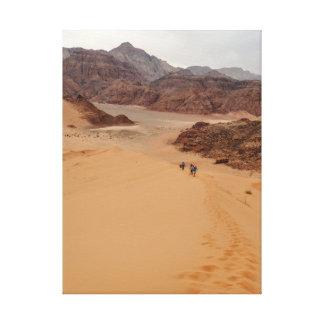 CAMINHADA nas dunas Impressão Em Canvas