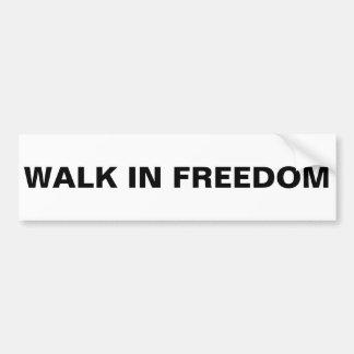 caminhada no bumpersticker da liberdade adesivo para carro