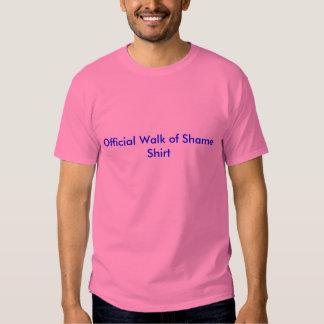 Caminhada oficial da camisa da vergonha camisetas