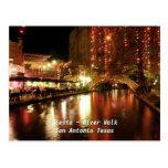 Caminhada San Antonio Texas do rio do ~ da festa Cartão Postal