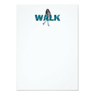 Caminhada SUPERIOR Convite 12.7 X 17.78cm