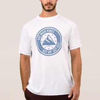 Caminhadas gordas do homem que caminham T T-shirt