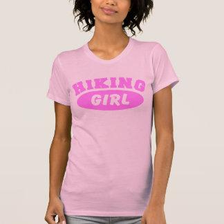 Caminhando camisetas femininas da menina