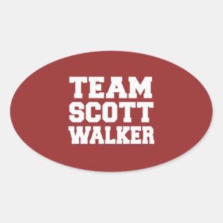 Caminhante 2016 de Scott da equipe Adesivos Em Formato Oval