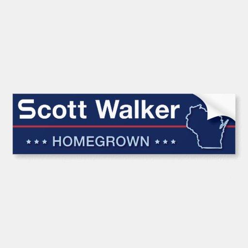 Caminhante de Scott caseiro em Wisconsin Adesivo