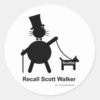 Caminhante de Scott do aviso Adesivo Redondo