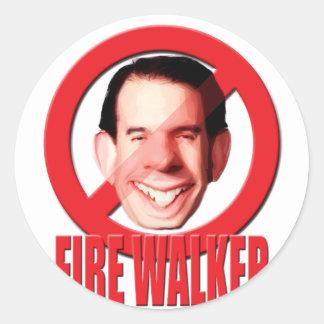 Caminhante de Scott do governador de Wisconsin do Adesivos Em Formato Redondos