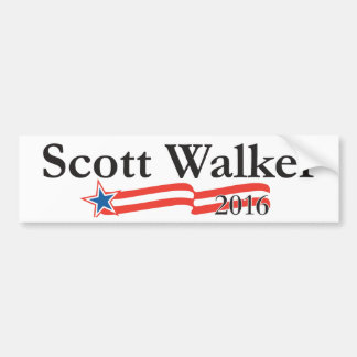 Caminhante de Scott para o presidente 2016 Adesivo Para Carro