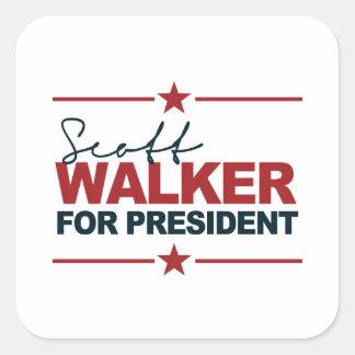 Caminhante de Scott para o presidente assinatura Adesivo Quadrado