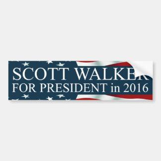 Caminhante de Scott para o presidente em 2016 Adesivo Para Carro