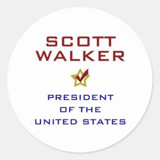 Caminhante de Scott para o presidente EUA Adesivo