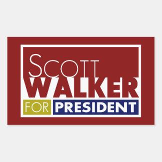 Caminhante de Scott para o presidente V1 Adesivo Retangular