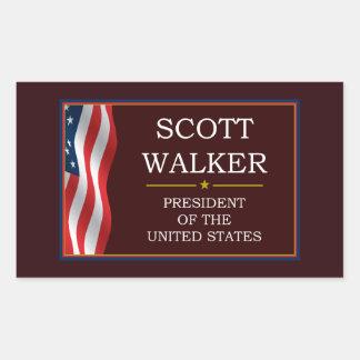 Caminhante de Scott para o presidente V3 Adesivo Retangular