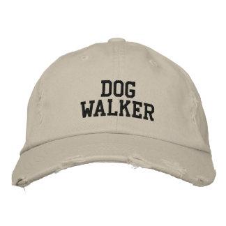 Caminhante do cão boné bordado