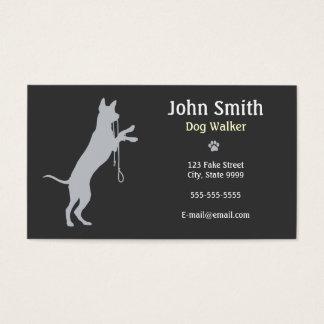 Caminhante do cão/cartão de visita de passeio cartão de visitas