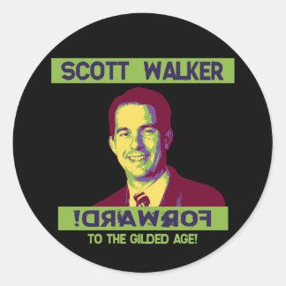 Caminhante, Scott -! DRAWROF Adesivo Em Formato Redondo