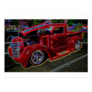 Caminhão 1947 do vintage do recolhimento do cartão postal
