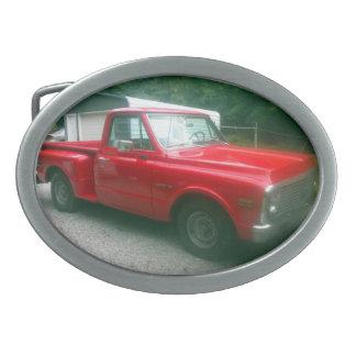 Caminhão 1972 de Chevy C10 Stepside do vermelho