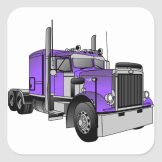 Caminhão 1 adesivo quadrado