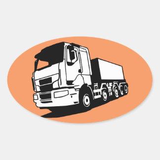 caminhão adesivo oval