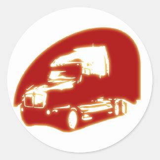 caminhão adesivo redondo