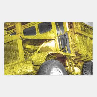 Caminhão amarelo adesivos retangulares