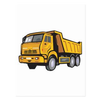Caminhão amarelo cartão postal