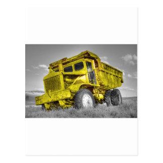 Caminhão amarelo cartoes postais