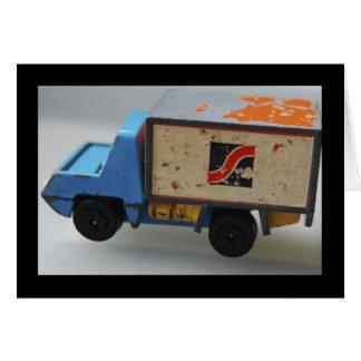 Caminhão antigo do brinquedo cartão comemorativo