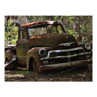 Caminhão antigo impressão de foto