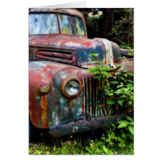 Caminhão antigo velho oxidado cartoes