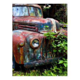 Caminhão antigo velho oxidado cartoes postais