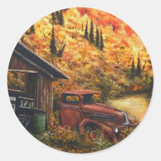 Caminhão aposentado adesivo