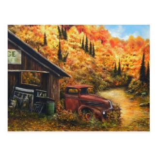 Caminhão aposentado cartão postal