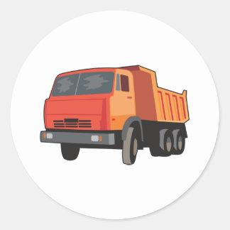 Caminhão Adesivos Redondos