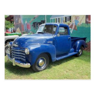 Caminhão azul antigo cartões postais
