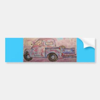 caminhão azul antigo do patina adesivos