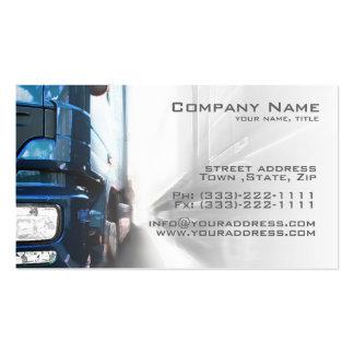 Caminhão azul - cartão do transporte & da cartão de visita