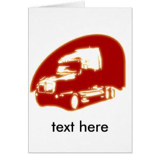 caminhão cartões