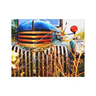 caminhão chevy velho em canvas