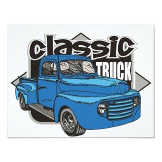 Caminhão clássico convite