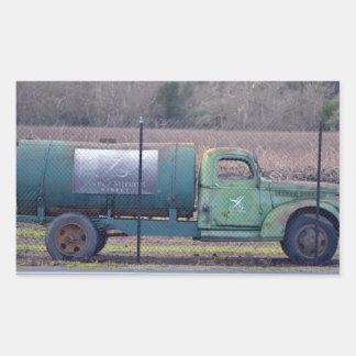 Caminhão da adega adesivo retangular