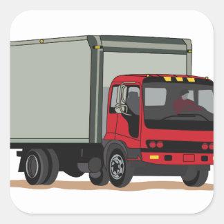 Caminhão da carga adesivo quadrado